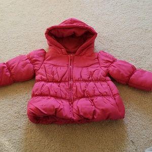 Gymboree Baby Girl 12M-24M Pink Puffer Hood Jacket